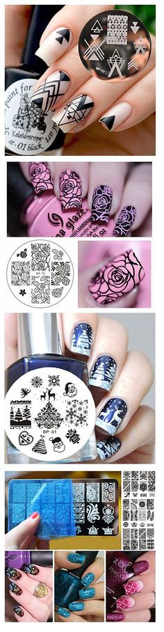 Creative nails stamps - hit of the season! Choose your own design on LightInTheBox. Click on the picture to see the details.