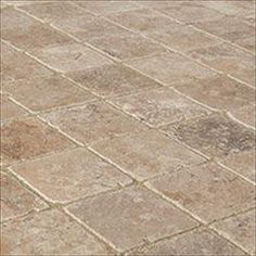 "Merida Travertine Tiles - Tumbled Noce Classico Rustic / 4""x4""x3/8"" / Tumbled"