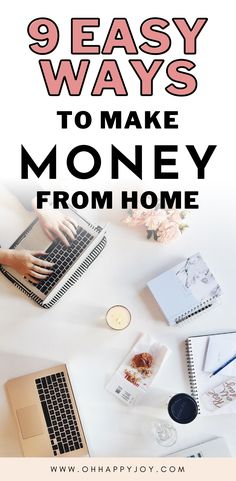 Learn extra ways to make money at home as a stay at home mom. In this post, I explore how to earn money online and 9 ways to make money from home. If you are wondering how to make money from home, this is the post for you! Earn Money From Home, Make Money Blogging, Way To Make Money, Make Money Online, How To Make, Busy At Work, Work From Home Jobs, Online Business, Business Tips
