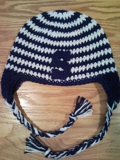 Hand Crochet Penn State Hat ALL Sizes Free Shipping to the US Go State.   15.00 b0cd21e439f