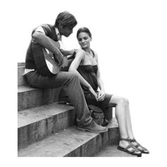 angel ❤ liked on Polyvore featuring people, couples and black and white