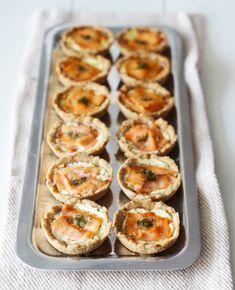Rukiiset lohileivokset   Reseptit   Kinuskikissa Finger Foods, Baked Potato, Tapas, Zucchini, Sushi, Snacks, Baking, Vegetables, Cocktail