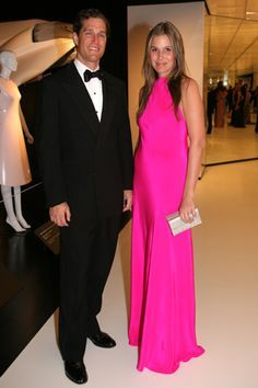 Aerin, hot pink dress