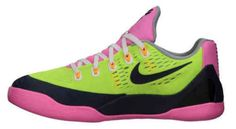 NEW-NIKE-KOBE-IX-LOW-sz-6-5Y-Bryant-VOLT-BLACK-PINK-Basketball-SHOES-SNEAKERS