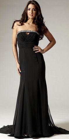 Elegant Long Black Evening Dresses   Dresscab