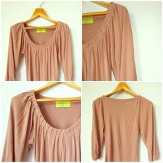 Zara Collection Nude Pink Blouse Top 3/4 Sleeve XS Like New Zara Collection Shirred Blouse in soft drapey nude, pink, rose color. 3/4 sleeves. Gorgeous Femme shape and style. XS Zara Tops Blouses