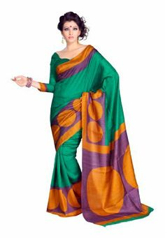 Indian Designer Wear Bhagalpuri Silk Green Printed Saree Fabdeal, http://www.amazon.de/dp/B00J0V0P32/ref=cm_sw_r_pi_dp_0F6otb0ZF3MQ1