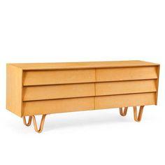 Case Study® Furniture V-Leg Double Wide Dresser Wide Dresser, Modern Dresser, Dresser Plans, Birch Ply, Case Study, Legs, Furniture, Design, Guest Room