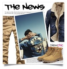 """NEWCHIC"" by larissa-takahassi ❤ liked on Polyvore featuring Vanity Fair, men's fashion, menswear and denimjacket"