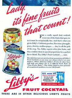 Libby's Fruit Cocktail, 1944