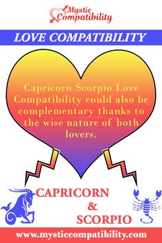 Capricorn Scorpio Love Compatibility could also be complementary thanks to the wise nature of both lovers. #Capricorn #Scorpio #Relationship #Compatibility #Capricorn_Scorpio #Relationship_Compatibility #CapricornScorpio #RelationshipCompatibility #Zodiac_Signs