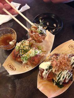 Japanese street food? Think Takoyaki.