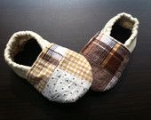 Brown Plaid Baby Shoes