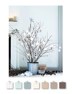 Color Palette: soft blues, browns & whites.  Love the soft breathy wintery feel to this.