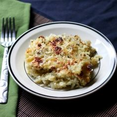 A great side dish featuring 3 cheeses, roasted anaheim and poblano peppers, tomatillos, and rice.