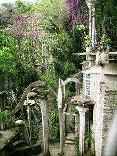 In Mexico's Sierra Madre, near a town called Xilitla, lies hidden one of the most surreal yet undiscovered artistic monuments of the last century – Las Pozas. Situated in the grounds of a former coffee plantation, Las Pozas gets its name from the nine pools formed by the cascades of mountain water that pass through it. It gets its eccentricity however from the English millionaire Edward James, who lived there from 1949 to his death in 1984.