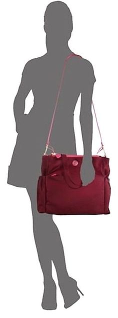 228.76$  Buy here - http://vitpg.justgood.pw/vig/item.php?t=uvbutu2505 - NWT Tory Burch Travel Red Nylon Baby Diaper Shoulder Bag Tote New $395