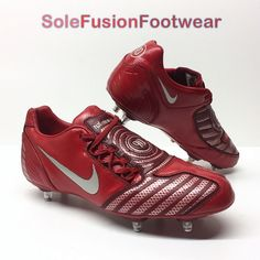 182aa1f71c5245 Nike mens Total 90 Football Boots Red sz 9 Shoot SG Soccer Cleats US 10 44  RARE