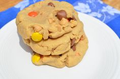 Reese's Pieces Peanut Butter Chocolate Chip Cookies @Natasha Foltz these are the ones I made Father's Day weekend!
