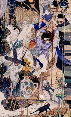 Arte Complexa, Art Inspo, Arte Peculiar, Drawn Art, Art Asiatique, Art Japonais, Ouvrages D'art, Art Et Illustration, Japanese Illustration