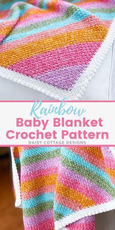 Crochet Square Blanket, Baby Blanket Crochet, Crochet Blankets, Crochet Afghans, Crochet Stitches, Crochet Kids Hats, Knit Or Crochet, Free Crochet, Crotchet