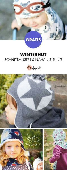 Free instructions: Sew warm winter hat - pattern and sewing instructions vi . Free instructions: Sew warm winter hat - pattern and sewing instructions via Makerist. Kids Clothes Storage, Kids Clothes Organization, Kids Clothes Boys, Sewing Projects For Kids, Sewing For Kids, Baby Sewing, Kids Clothes Patterns, Hat Patterns To Sew, Pattern Sewing