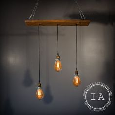Vintage Industrial Pendant Lamp Chandelier Reclaimed Barn Wood Oiginal Hardware Steampunk Lighting on Etsy, Hmmmm could try with jars Vintage Industrial Lighting, Industrial Light Fixtures, Industrial Style, Bar Lighting, Modern Lighting, Lighting Ideas, Tap Room, Jim Beam, Reclaimed Barn Wood