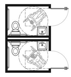 "Plan-1B Pair: 2010 Standards with Out-Swinging Doors  Two 7'-0"" x 5'-0"" Rooms-  70.00 Square Feet Total"