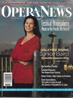 Opera News magazine Janice Baird Pacific Northwest Oregon Portland Gary Karr