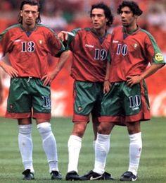 Euro 96. Dimas + Paulo Sousa + Rui Costa.