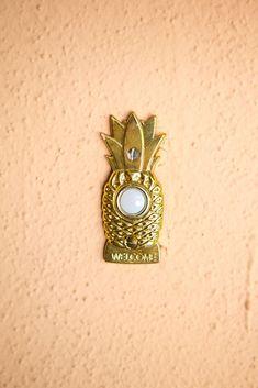 Pineapple doorbell.