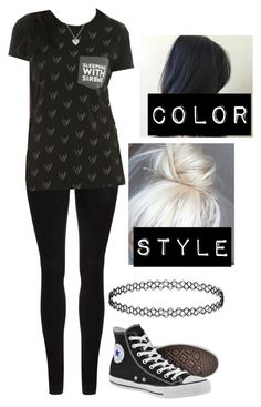 """""""O O T D"""" by xxghostlygracexx ❤ liked on Polyvore featuring Dr. Denim, Converse and plus size clothing"""
