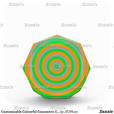 Shop Customisable Colourful Concentric Circle Design Award created by JFJPhoto. Showcase Design, Circle Design, Design Awards, Printing Process, Color, Colour, Colors