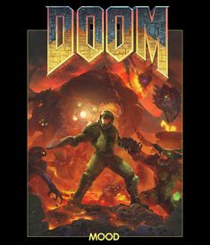 At MOOD we absolutely love the DOOM games - so we decided to do a tribute piece in honor of the new DOOM game from 2016.