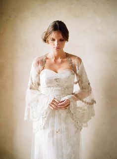 2012 Claire Pettibone dress - so delicate and so vintage.  In case you couldn't tell, my cousin is getting married!