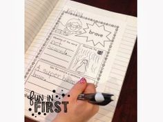 Superhero Vocabulary Interactive Notebook