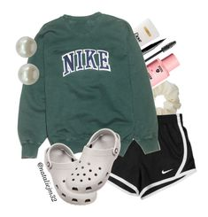 Designer Clothes, Shoes & Bags for Women Casual Sporty Outfits, Cute Lazy Outfits, Cute Swag Outfits, Teenage Girl Outfits, Cute Outfits For School, Teen Fashion Outfits, Teenager Outfits, Athletic Outfits, Trendy Outfits