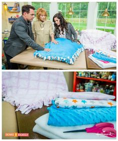 No sewing needed for this one! Just two pieces of fleece and some knots will get you the perfect baby blanket! Created by @tmemme28  on Home and Family.