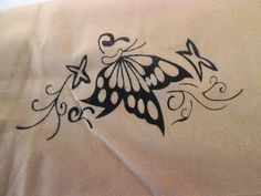 Butterflies on Ankle on Women's Panty Hose / Stockings (One Size)
