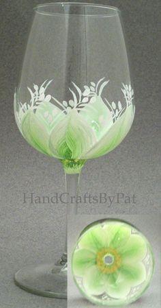 Glassware - Wine Glass: Fresh> Anniv. Mike & Elda - Unique Gifts - HandCraftsByPat