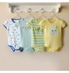 Mom and Bab 4 in 1 Bodysuit - Octopus - sadinashop.com  Jumper untuk bayi dan anak.
