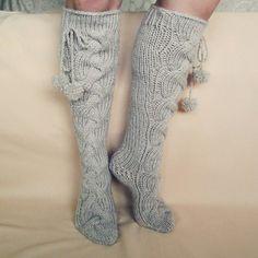 Ручная колено высокие носки Носки шерстяные носки Теплая от mymomsshop1