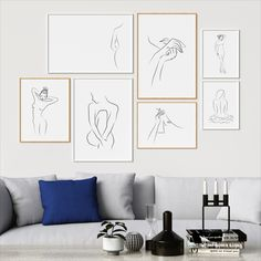 This amazingly elegant and minimal illustrations are perfect when framed. All Illustrations were made by us, LadiesMinimal from scratch, without using any premade elements. Elegant Living Room, Female Bodies, Minimalism, Gallery Wall, Illustrations, Wall Art, Trending Outfits, Frame, Home Decor