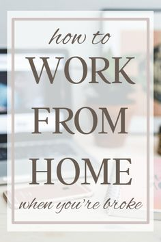 Are you ready to work from home? Here's a quick guide to making money from hom… Are you ready to work from home? Here's a quick guide to making money from home when you're broke and have no online experience. Ways To Earn Money, Earn Money From Home, Earn Money Online, Money Tips, Way To Make Money, How To Make, Money Fast, Free Money, Making Money From Home