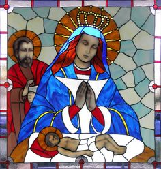Altagracia Virgin from Dominicana by Architect and artist Manuel Ortega Núñez (Facebook). It is a stained glass made in his workshop VITRALAND.