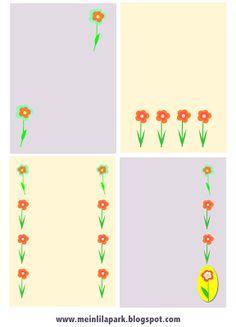 free flower journaling cards and embellishment – ausdruckbare Blumen Notizkarten – freebie | MeinLilaPark – digital freebies