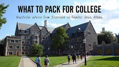What Clothes to Pack for College - checklist, styling tips and outfit ideas via Stylebook