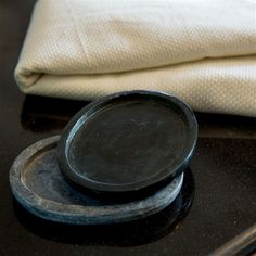 Soap Dish | Black Limestone