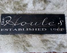 Check out Personalized Family Name Sign Established Sign Personalized Plaque on paolabrownshop