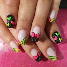 Uñas Cute Nail Art, Cute Nails, Beach Nails, Cute Nail Designs, Stiletto Nails, Valentines, Beauty, Nail French, Nails Design
